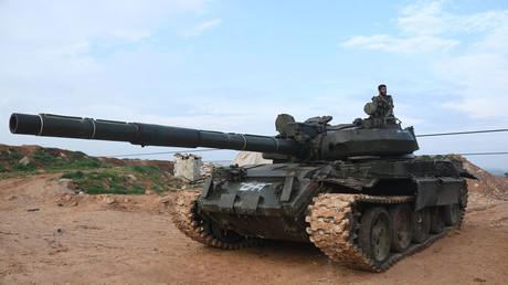 دبابة تابعة للجيش السوري
