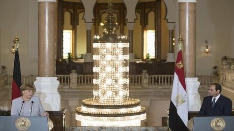 الرئيس المصري عبد الفتاح السيسي، والمستشارة الألمانية أنغيلا ميركل