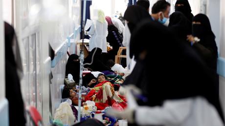 مرضى الكوليرا في اليمن