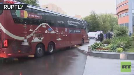 بعثة الكاميرون تحط الرحال في موسكو (فيديو)