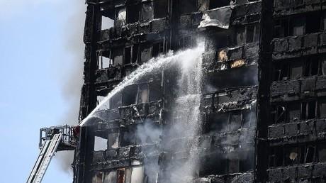 صورة المبنى بعد الحريق