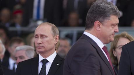 الرئيسان الأوكراني بيترو بوروشينكو والروسي فلاديمير بوتين
