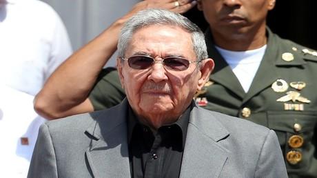 رئيس كوبا راؤول كاسترو في كراكاس بفنزويلا في 5 مارس 2017