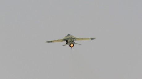 أرشيف - طائرة عسكرية سورية تقلع من مطار الضمير العسكري