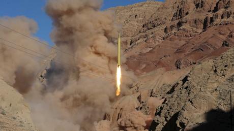 إطلاق صاروخ باليستي من إيران. صورة من الأرشيف