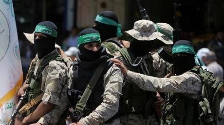 """عناصر من حركة """"حماس"""""""