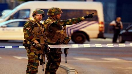 قوات أمن بلجيكية قرب محطة القطارات في بروكسل
