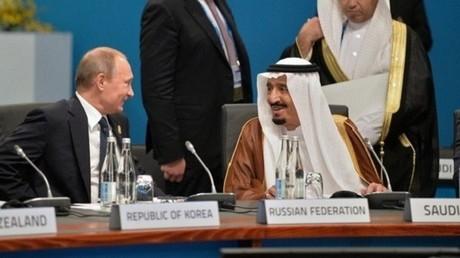 العاهل السعودي الملك سلمان بن عبد العزيز والرئيس الروسي فلاديمير بوتين