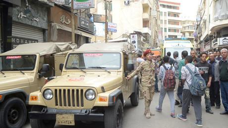 القوات المصرية في الشوارع