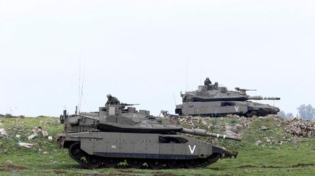 الدبابات الإسرائيلية في الجولان المحتل