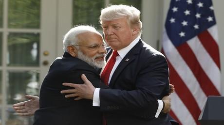 الرئيس الأمريكي دونالد ترامب ورئيس الوزراء الهندي ناريندرا مودي - واشنطن 26/6/2017
