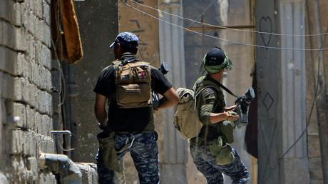 القوات العراقية في الموصل القديمة