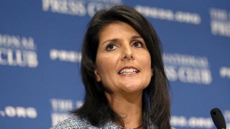 مندوبة الولايات المتحدة الدائمة في منظمة الأمم المتحدة، نيكي هايلي