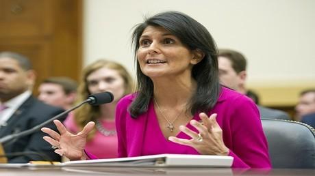 نيكي هيلي مندوبة الولايات المتحدة في منظمة الأمم المتحدة