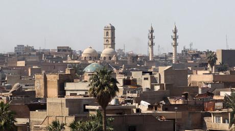صورة لمشهد الموصل القديمة تتضمن جامع النوري الكبير