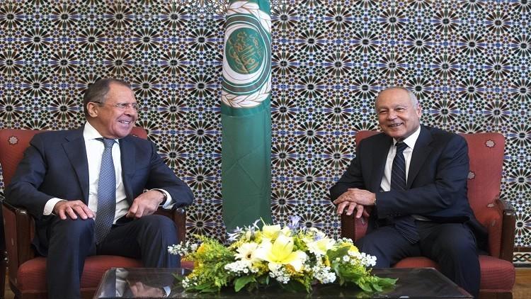 لافروف وأبو الغيط يبحثان أزمات الشرق الأوسط