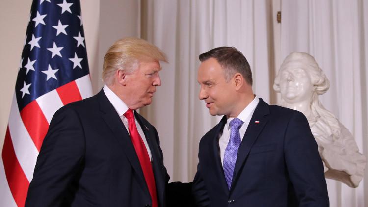 ترامب يتهم روسيا  بزعزعة الاستقرار في شرق أوروبا