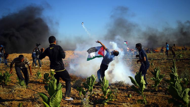 إصابتان إحداهما خطيرة برصاص إسرائيلي في تظاهرات غزة