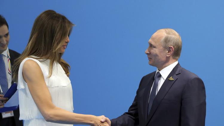 بوتين يلتقي ميلانيا ترامب