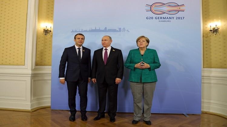 بوتين ماكرون وميركل يشددون على أهمية ثبات وقف النار جنوب أوكرانيا