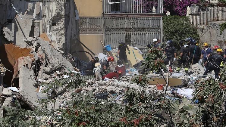 مصرع 8 أشخاص في انهيار مبنى سكني بجنوب إيطاليا