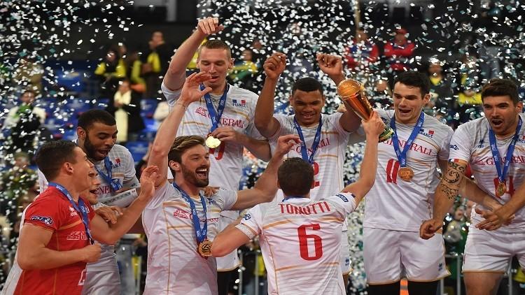 فرنسا تتوّج بلقب الدوري العالمي للكرة الطائرة