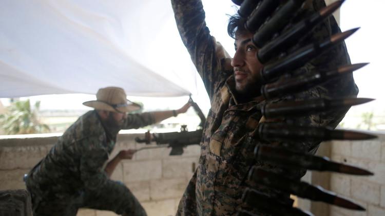 ضباط أمريكيون في الرقة بسوريا