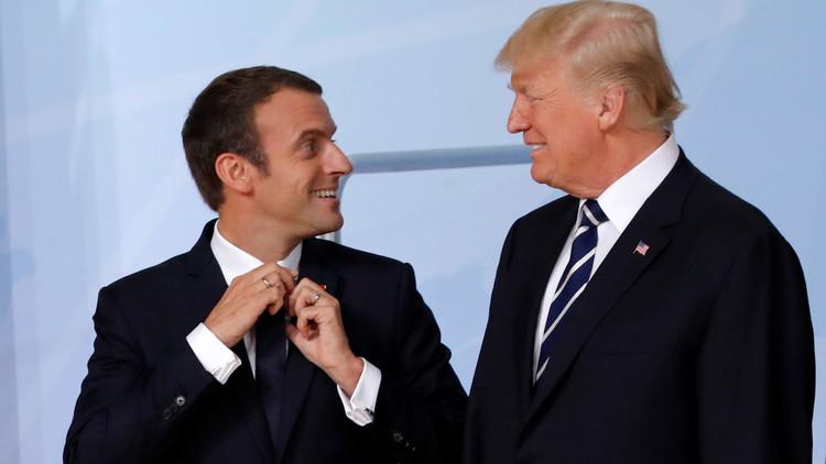 ترامب في باريس بدعوة من ماكرون
