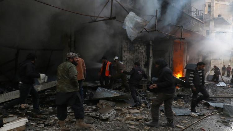 عشرات القتلى والجرحى بهجوم انتحاري في إدلب