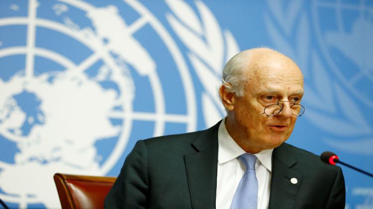 دي ميستورا يعلن عن مبادرة تحدد الأولويات لتسوية الأزمة السورية