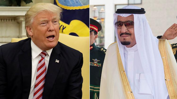 ترامب يبحث مع الملك سلمان تسوية الأزمة حول قطر ويؤكد ضرورة منع تمويل الإرهاب