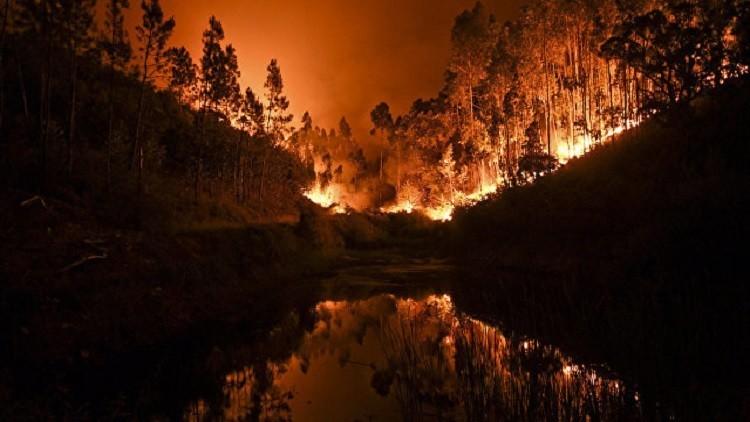 تحطم مروحية في البرتغال أثناء إخماد حريق