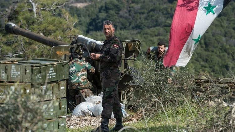 مناطق سيطرة الجيش السوري في البلاد