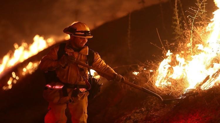 إعلان حالة الطوارئ في كاليفورنيا بسبب الحرائق
