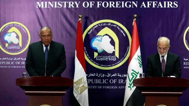 شكري من بغداد: لابد من موقف حازم من دور قطر وسياساتها