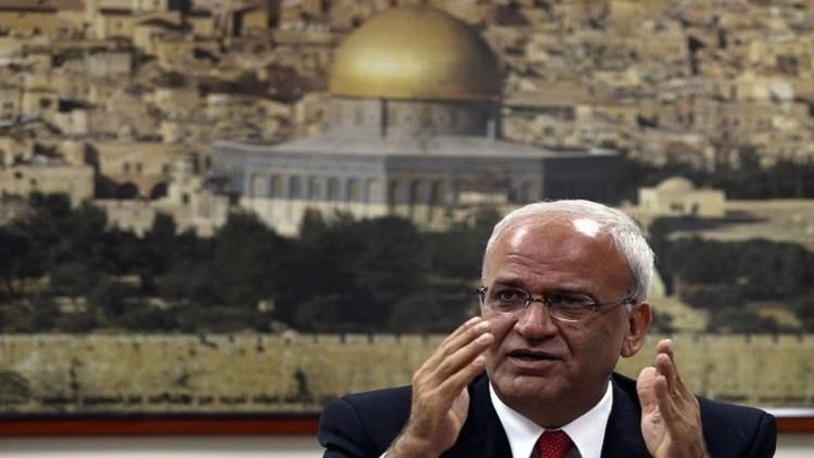 عريقات يناشد المجتمع الدولي التدخل لوقف الإجراءات الإسرائيلية في الأقصى