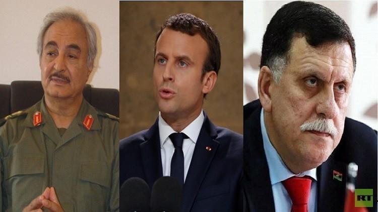 ماكرون يحاول رأب الصدع بين الليبيين