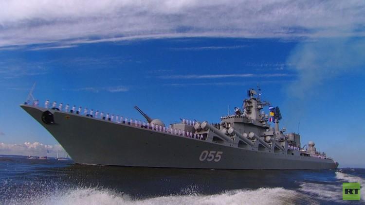 العرض العسكري البحري الكبير بمناسبة عيد البحرية الروسية