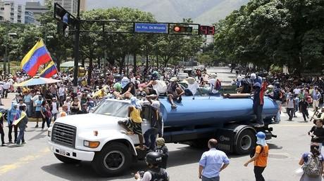أرشيف - احتجاجات مناهضة للحكومة الفنزويلية في كاراكاس