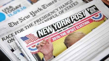 غلاف صحيفة نيويورك بوست