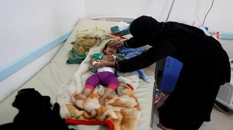 مركز لعلاج الكوليرا في صنعاء، اليمن 6 يونيو 2017