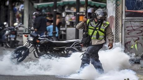 احتجاجات ضد الحكومة الفنزويلية في العاصمة كاراكاس، 1 يوليو/تموز 2017