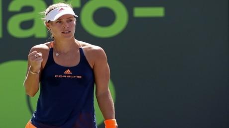 لاعبة التنس الألمانية أنجيليك كيربر