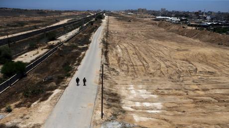 الشريط الحدودي الفاصل بين قطاع غزة ومصر