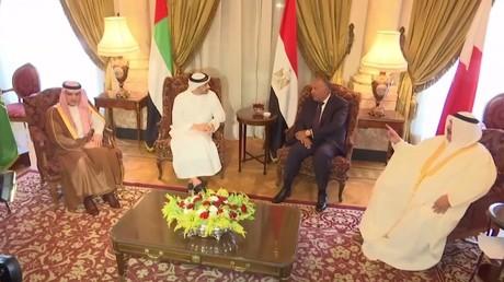 اجتماع وزارء خارجية الدول المقاطعة لقطر في القاهرة