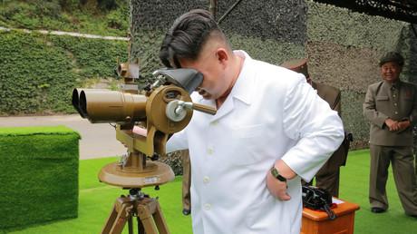 الزعيم الكوري الشمالي كيم جون أون