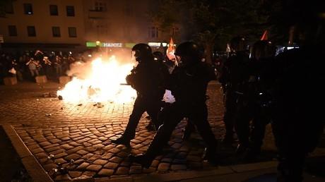 اشتباكات بين الشرطة ومتظاهرين في هامبورغ- ألمانيا
