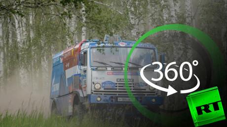 """بتقنية الـ360 درجة: استعدادات فريق """"كاماز ماستر"""" لرالي طريق الحرير"""