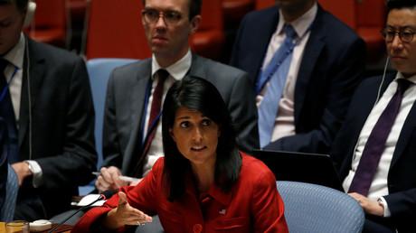 سفيرة الولايات المتحدة نيكي هايلي لدى الأمم المتحدة