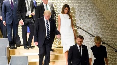 الرئيس الأمريكي دونالد ترامب، مع زوجته ميلانيا ترامب